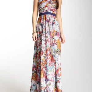 BCBG printed one shoulder gown!